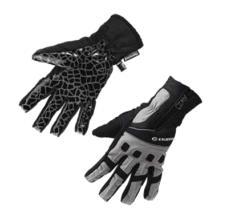 Велоперчатки Exustar, водоотталкивающие, с молнией, CG560