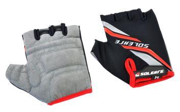 Велоперчатки SOLEHRE SB-01-5030, черные/красные