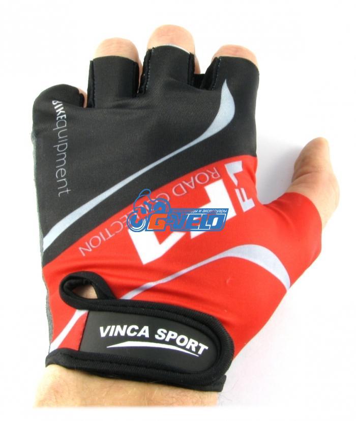 Велоперчатки Vinca Sport F1 красные, VG 924 red