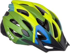 Велошлем STG, MV29-A, L (58-61 см) салат/син/черн, с застежкой