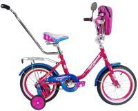 Велосипед 14 BA Princess с  ручкой, розовый