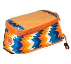 Велосумка Roswheel на руль, для телефона, оранж/бел/синий, 121024LMN-H