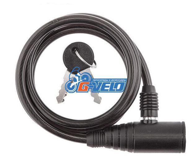 Велозамок противоугонный MEET GD11-901, 8*1200 мм, трос, ключ