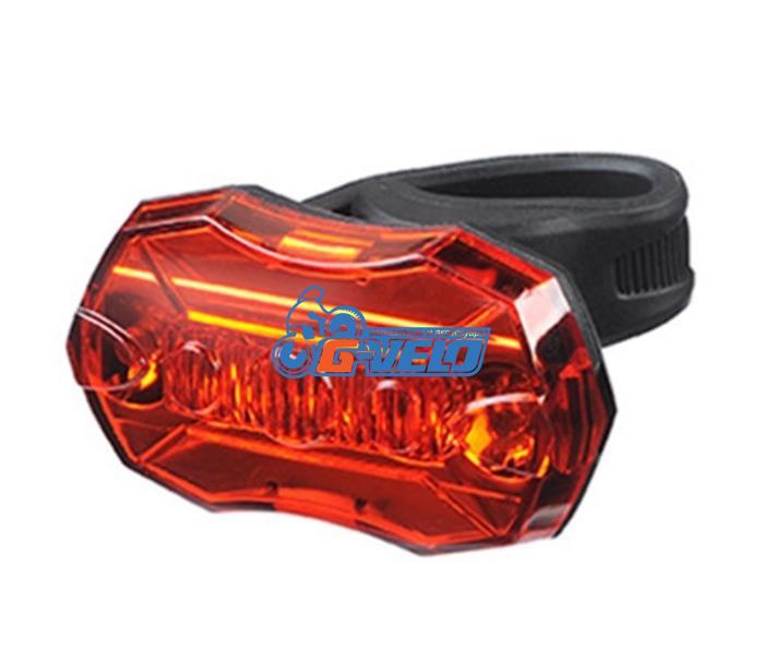 Vinca Sport, Фонарь задний (5 диодов, 3 реж. работы), силиконовое крепление, с батарейками, VL 6090