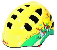 """Vinca Sport, Шлем детский с регулировкой, желтый, рисунок - """"город"""" VSH 9 Travel"""