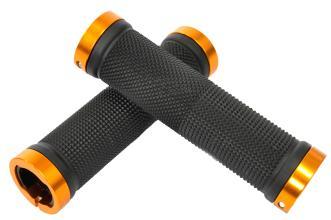 Vinca Sport, Грипсы с метал. зажимами, длина 129мм, чёрные, зажим золотой H-G119 black /gold