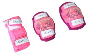 Vinca Sport, К-т защиты детский (наколенник, налокотник, наладонник), розовый, M, инд.уп VP 32pink