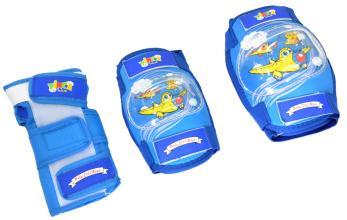 Комплект защиты Vinca Sport, детский (наколенник, налокотник, наладонник), синий, M, VP 32blue M