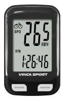Vinca Sport, Компьютер проводной, 12 функций, черный с белым, инд.уп. V-3500 black/white