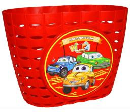 Vinca Sport, Корзинка детская на руль 12-16, цвет красный, 220x140x130мм, P06 Cars