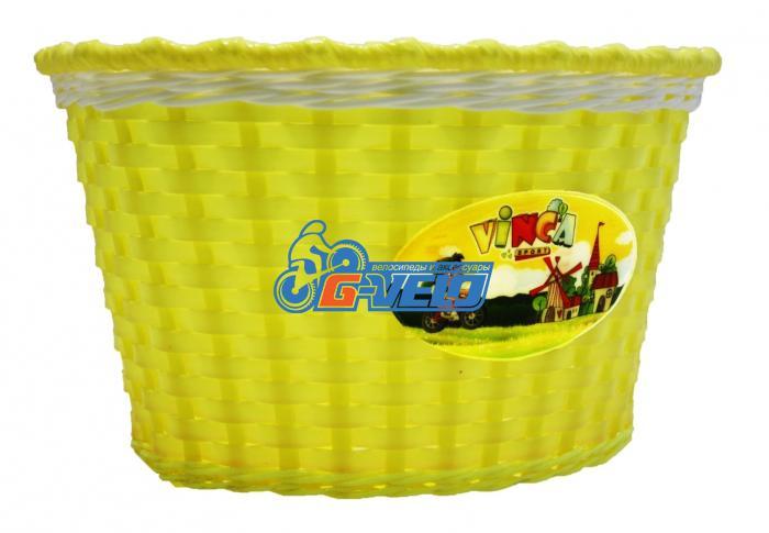 Vinca Sport, Корзинка детская на руль 16, цвет желтый, 240x165x155мм, P04 Travellor