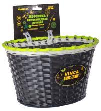 Vinca Sport, Корзинка детская на руль 20-24, цвет черный, 280x170x165мм, P 04 Robocop