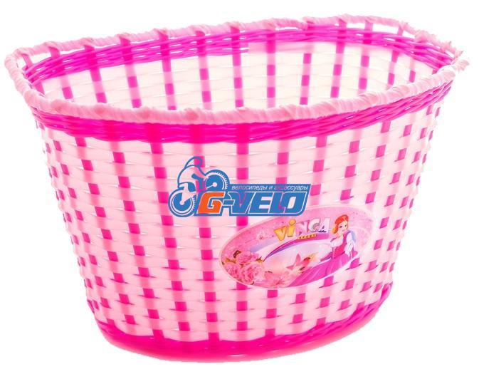 Vinca Sport, Корзинка детская на руль 20-24, цвет розовый, 270x200x170мм, P04 Princess Kate