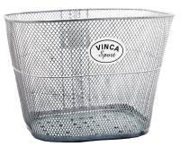 "Vinca Sport, Корзинка передняя с креплением ""на усы"", 310*230*230мм, серебристая P 02 silver"