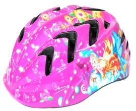 """Vinca Sport, Шлем детский с регулировкой, S(48-52см), розовый, рисунок - """"принцесса"""" VSH 7 princes"""