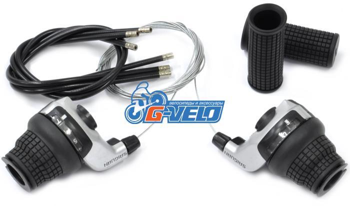 Шифтеры Vinca Sport, совместимы с Shimano, левая-3 ск.,правая-7 ск.,с тросиком KDSG 51-3SI/7SI