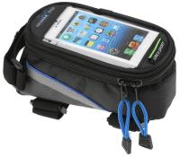 Vinca Sport, Сумка на раму, отделение для телефона, 190х90х95мм, синий кант, FB 07M black/blue
