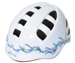 """Vinca Sport, Шлем детский с регулировкой, M(52-56см), белый, рисунок - """"lavender"""" VSH 14 Lavender"""