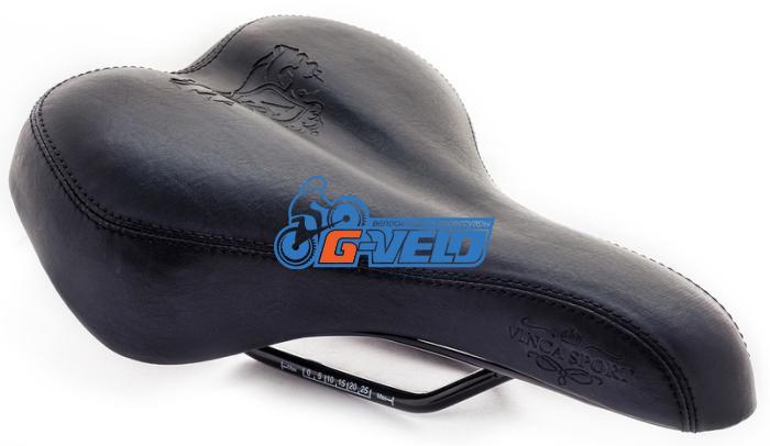 Седло комфортное Vinca Sport, Vintage, 258x190мм, VS 8291 Royal Man (black), черный