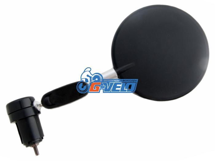 Vinca Sport, Зеркало параболическое с торцевым креплением, диаметр 80мм, JY 06