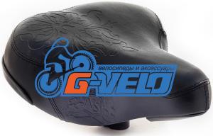 Седло комфортное Vinca Sport, Vintage, 260х230мм, VS 9032 Royal Lady (black), черный