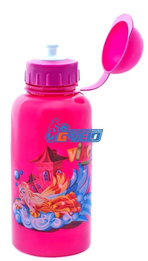 """Vinca Sport, Фляжка 500мл розовая, рисунок - """"принцесса"""", VSB 03 pink"""