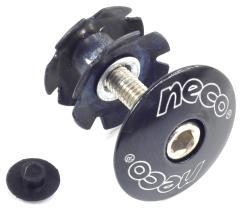 """Якорь NECO 1-1/8"""" алюминиевая крышка, стальной болт, черный C2861 BK"""