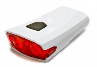 X-light, Задний фонарь XC-122R, белый корпус, USB шнур, аккум. 3,7V, 300mAh