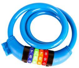 Замок велосипедный кодовый Vinca Sport 10*1000мм, синий, VS 101.427 blue