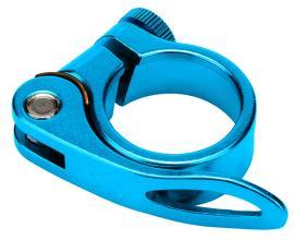 Зажим подседельн. штыря Vinca Sport, на эксцентр, диаметр - 28,6мм синий VC 14 (28.6) blue