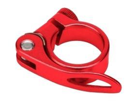 Зажим подседельн. штыря Vinca Sport, на эксцентр, диаметр - 28,6мм красный VC 14 (28.6) red