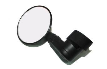 Зеркало заднего вида, диаметр 75 мм, длина 125 мм, крепление на липучке поверх грипс, DX-2002V